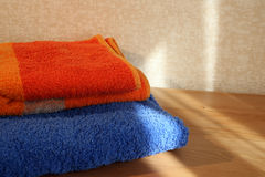 Blue And Orange Towels Royalty Free Stock Photos