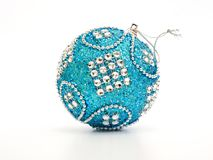 Free Blue And Silver Christmas Ball Stock Photography - 104590852