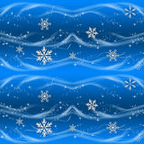 Blue And Silver Christmas Wrapping Paper Royalty Free Stock Photos