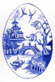 Blue And White Egg Stock Images