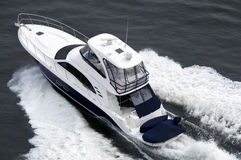 Blue And White Speedboat Stock Images