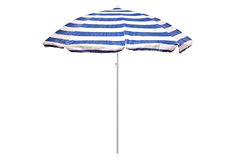 Blue And White Striped Umbrella Royalty Free Stock Photos