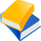 Blue And Yellow Book Stock Photography