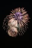 Blue And Yellow Firework At Night Royalty Free Stock Image