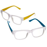 Blue And Yellow Glasses Stock Photography