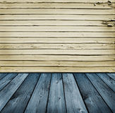 Blue And Yellow Wooden Background Royalty Free Stock Image