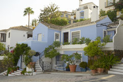 Blue Andalusian house Royalty Free Stock Photo