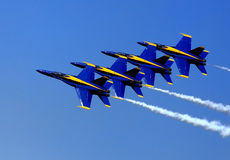 Blue Angel Airshow at Robins AFB Royalty Free Stock Photography