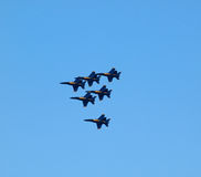 Blue Angel Jets fly in formation Royalty Free Stock Photos