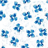 Blue angel of love with heart seamless pattern Royalty Free Stock Images