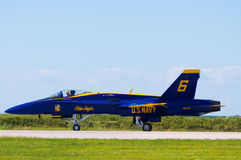 Blue Angel on Runway Stock Photos