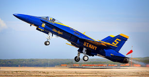 Blue Angel Taking Off. A Blue Angel just as it takes off Royalty Free Stock Photography