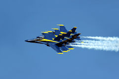 Blue Angeles In Formation Royalty Free Stock Photos
