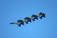 Blue Angeles In Formation Stock Photography