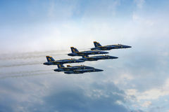 Blue Angels High in the Sky Royalty Free Stock Photo