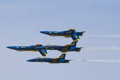 Blue Angels. BEAUFORT, SC - The Blue Angels perform during the MCAS Beaufort Air Show 2011 stock photo