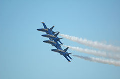 Blue Angels 2. Blue Angels in formation Royalty Free Stock Image