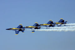 Blue Angels. Blue Angel stunt performance team Royalty Free Stock Photography