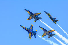 Free Blue Angels Aerobatic Jets Performance At 2015 Fort Worth Alliance Airshow Royalty Free Stock Photography - 69640707
