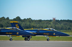 The Blue Angels. Air Show at Naval Air Station Oceana, 21 September 2014 with the US Navy's demonstration team, The Blue Angels Stock Images