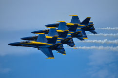 The Blue Angels. Air Show at Naval Air Station Oceana, 21 September 2014 with the US Navy's demonstration team, The Blue Angels Royalty Free Stock Photo