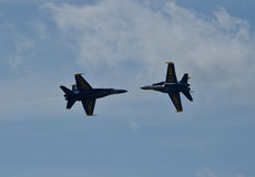 The Blue Angels. Air Show at Naval Air Station Oceana, 21 September 2014 with the US Navys demonstration team, The Blue Angels Stock Images