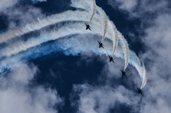 The Blue Angels. Air Show at Naval Air Station Oceana, 21 September 2014 with the US Navy's demonstration team, The Blue Angels Royalty Free Stock Images