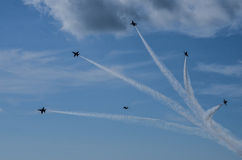 The Blue Angels. Air Show at Naval Air Station Oceana, 21 September 2014 with the US Navy's demonstration team, The Blue Angels Stock Photography