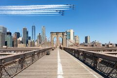 Free Blue Angels And Thunderbirds Airshow Over New York City Royalty Free Stock Photography - 183049837