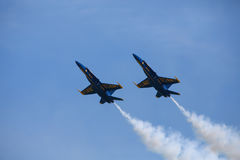 Blue Angels at the Chicago Air Show Royalty Free Stock Photography