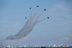 Blue Angels at the Chicago Air Show Royalty Free Stock Photos