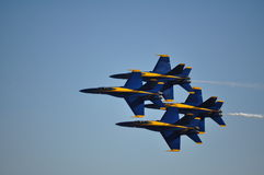 Blue Angels Close Formation Stock Photography