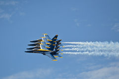 Blue Angels close formation. Blue Angels air show Pensacola, Fl NAS Stock Photos