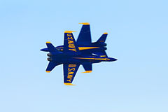 Blue Angels Close Pass stock images