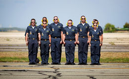 Blue Angels Crew. The Blue Angels crew at attention Royalty Free Stock Photography
