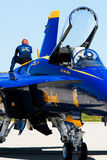 Blue Angels crewmember. Royalty Free Stock Image