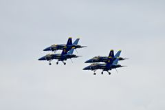 Blue Angels Demonstration Squadron Royalty Free Stock Images