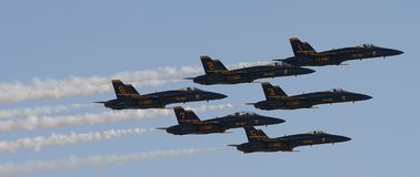 Blue Angels Diamond 2 Royalty Free Stock Image