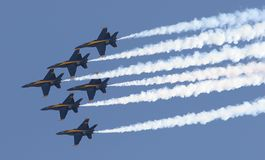 Blue Angels Diamond. Blue Angles Royalty Free Stock Photography
