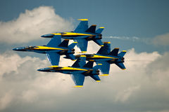 Blue Angels Diamond Formation Stock Images