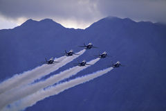 Blue Angels in flight Royalty Free Stock Image