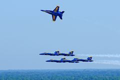 Blue Angels in Flight Stock Photos