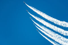 Blue Angels Flight Demonstration Going UP Royalty Free Stock Image