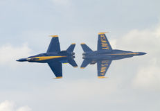 Blue Angels fly again Stock Photo