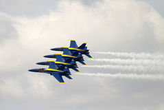 Blue Angels fly again Royalty Free Stock Photography