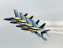 Blue Angels Flying in In Formation Stock Images