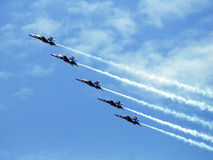 Blue Angels formation Stock Photography