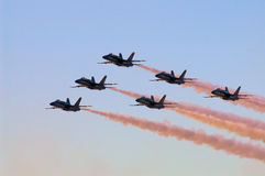 Blue Angels in Formation Stock Photo