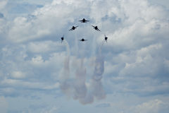 Blue Angels formation. Blue Angels air show Pensacola, Fl NAS Royalty Free Stock Photos