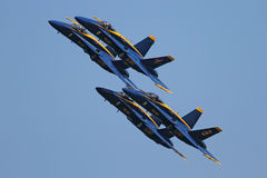 Blue Angels formation demonstrates flying skills Stock Image